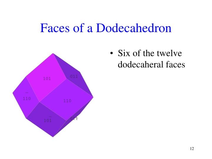 Faces of a Dodecahedron