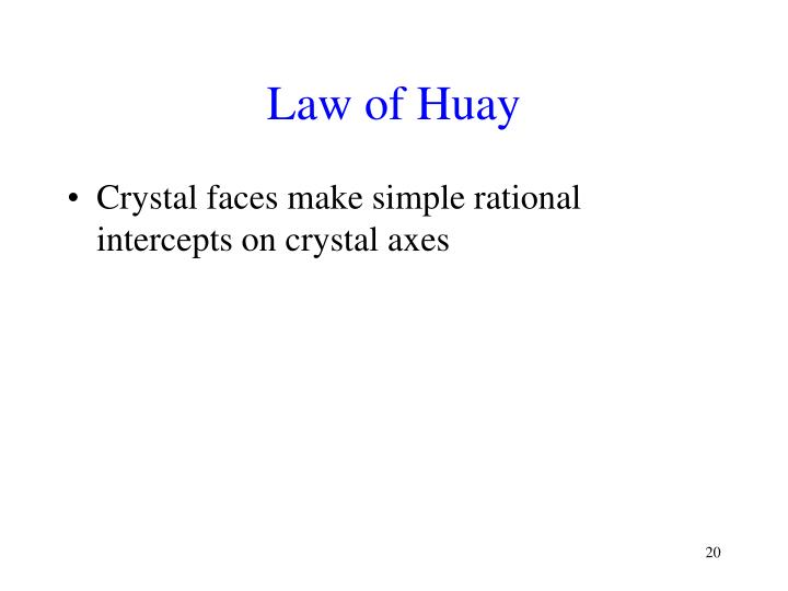 Law of Huay