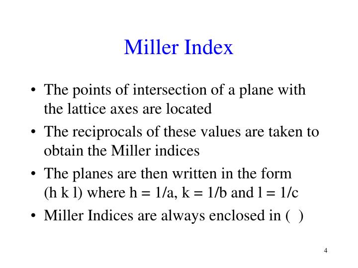 Miller Index