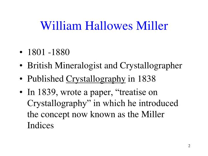 William Hallowes Miller