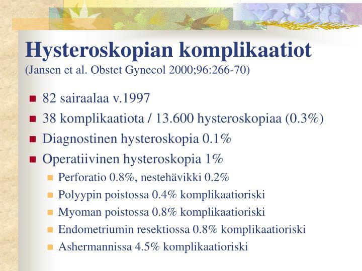 Hysteroskopian komplikaatiot