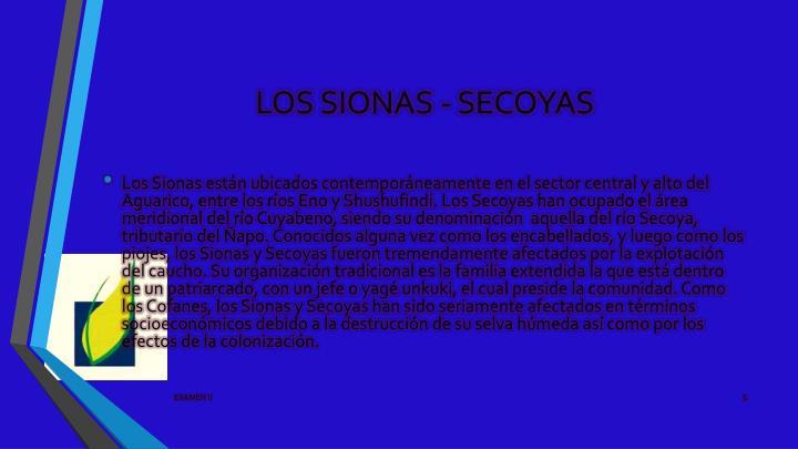 LOS SIONAS - SECOYAS