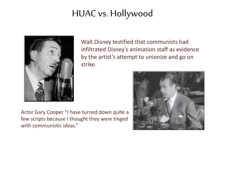 HUAC vs. Hollywood