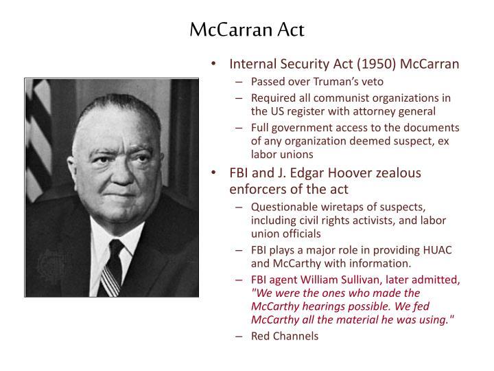McCarran Act