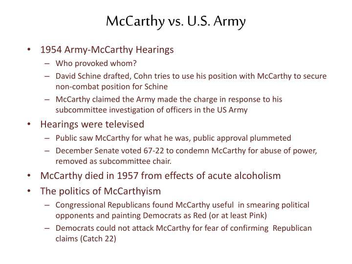 McCarthy vs. U.S. Army