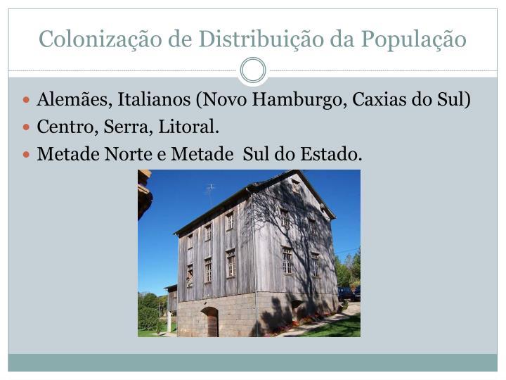 Colonização de Distribuição da População