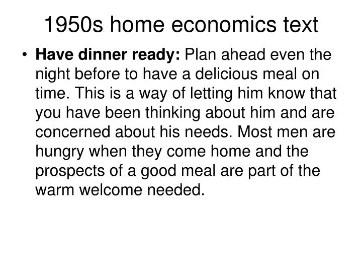 1950s home economics text