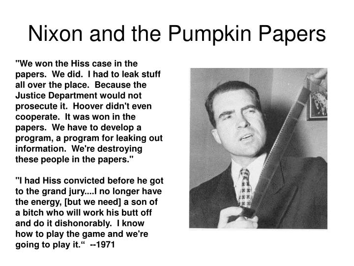 Nixon and the Pumpkin Papers