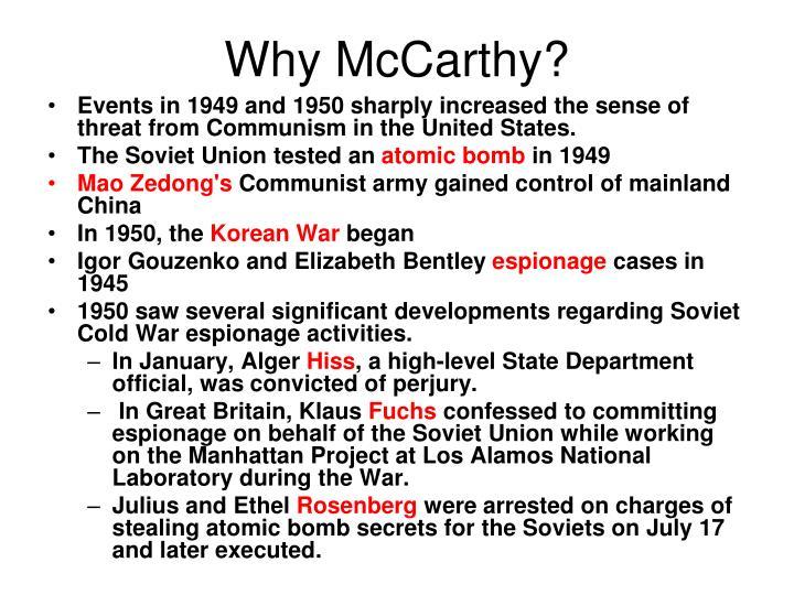 Why McCarthy?