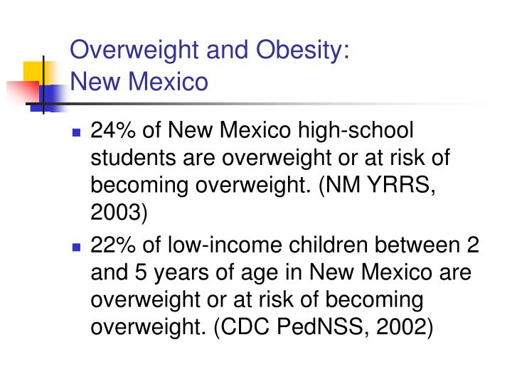 Overweight and Obesity: