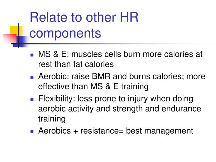 Relate to other HR components