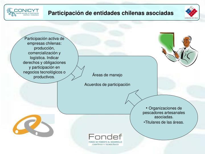 Participación de entidades chilenas asociadas