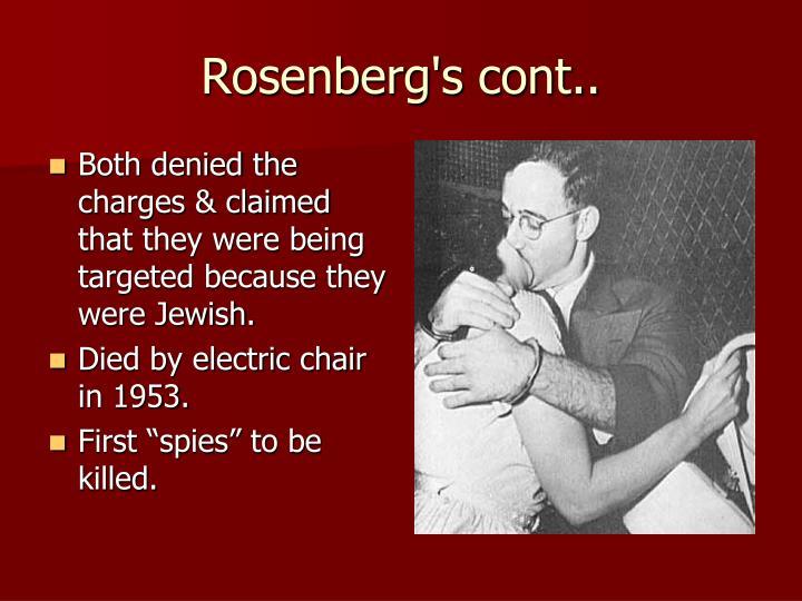 Rosenberg's cont..