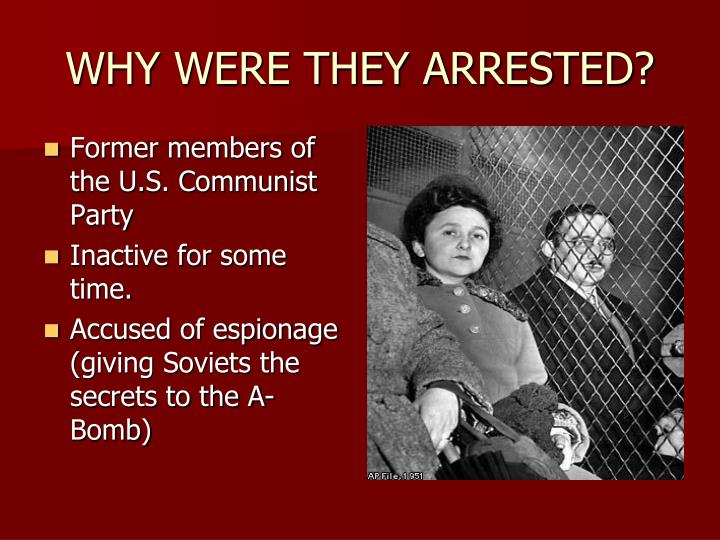 WHY WERE THEY ARRESTED?