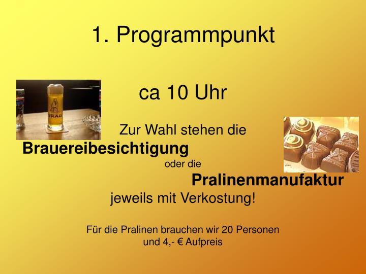 1. Programmpunkt