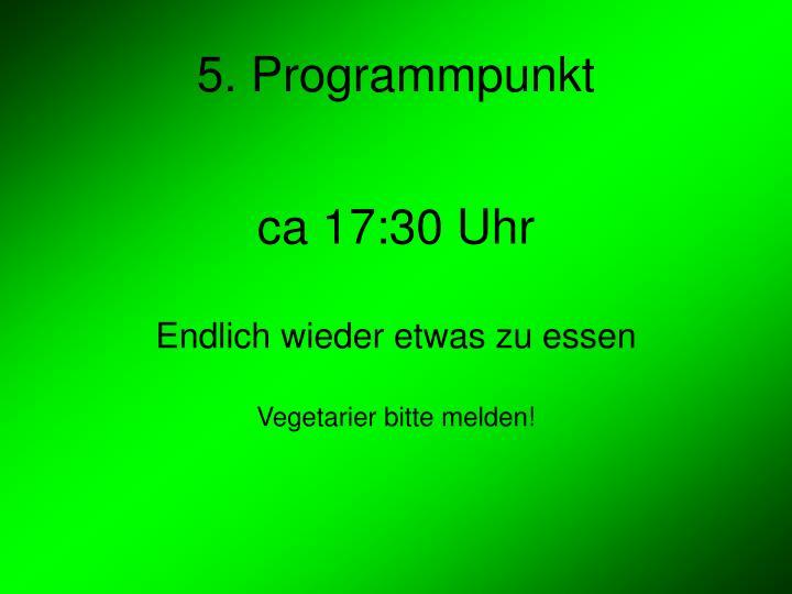 5. Programmpunkt
