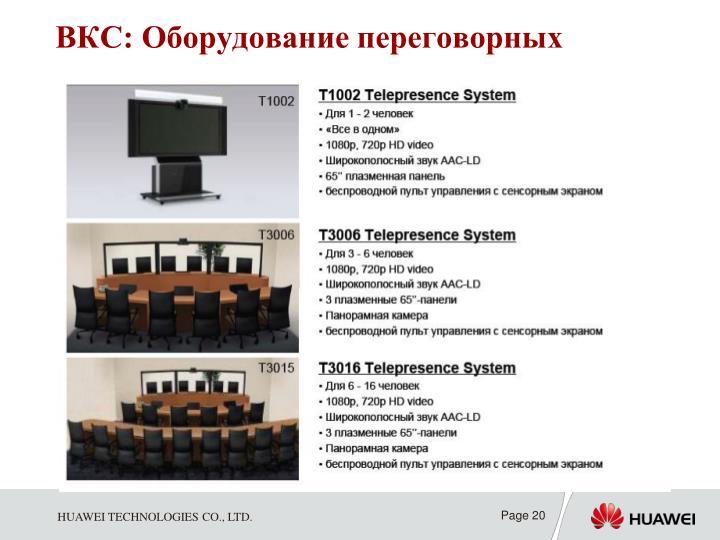 ВКС: Оборудование переговорных