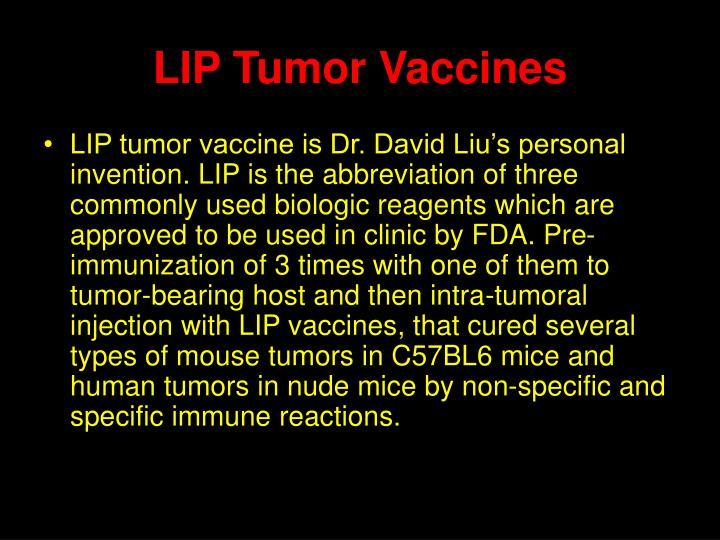 LIP Tumor Vaccines