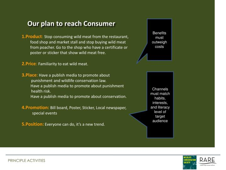 Our plan to reach Consumer