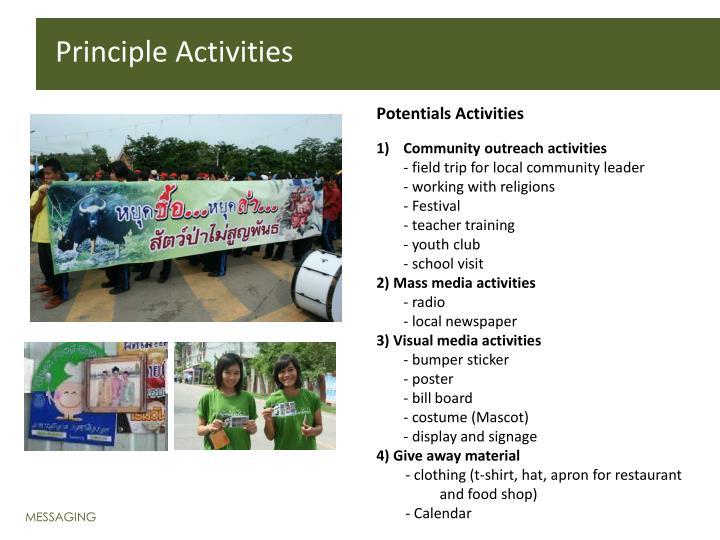 Principle Activities