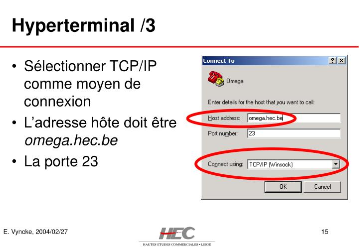 Hyperterminal /3