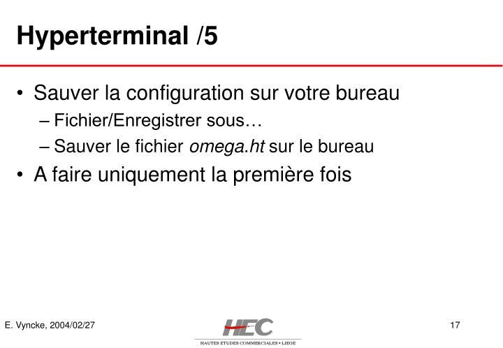 Hyperterminal /5