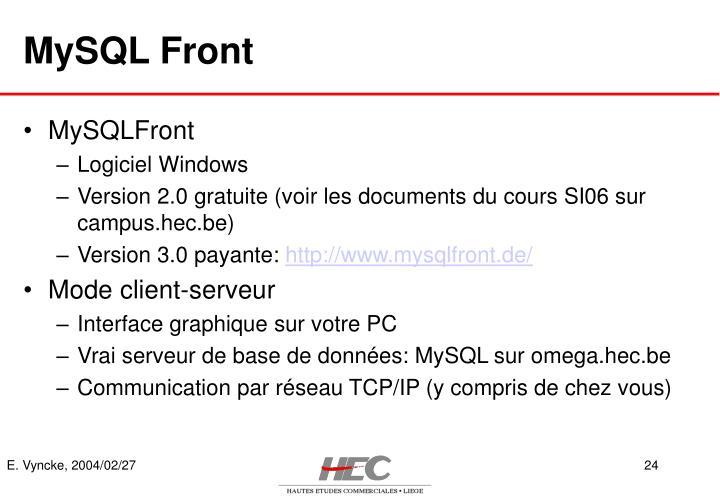 MySQL Front