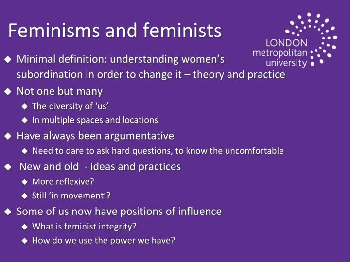 Feminisms and feminists