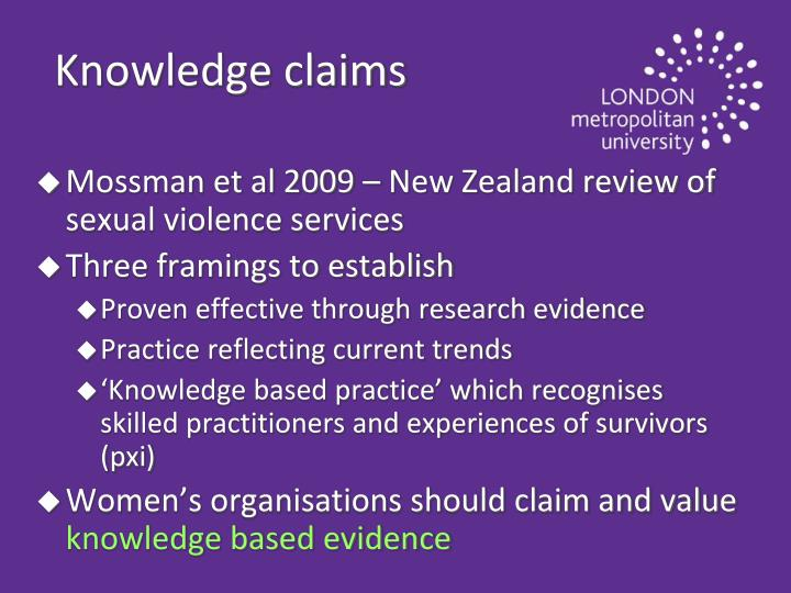 Knowledge claims