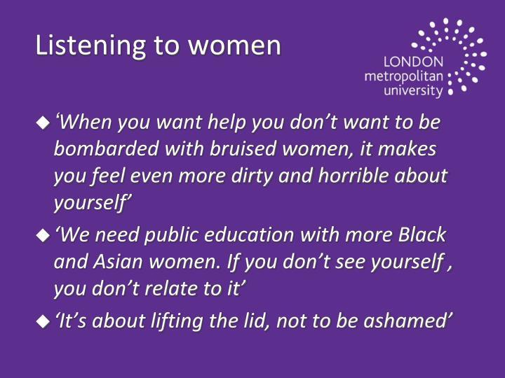 Listening to women