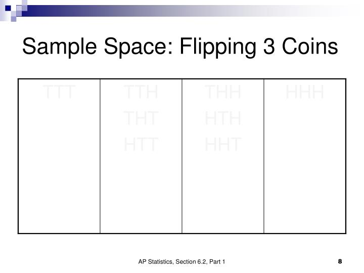 Sample Space: Flipping 3 Coins