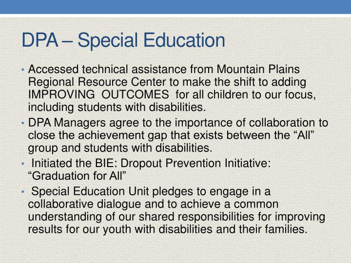 DPA – Special Education