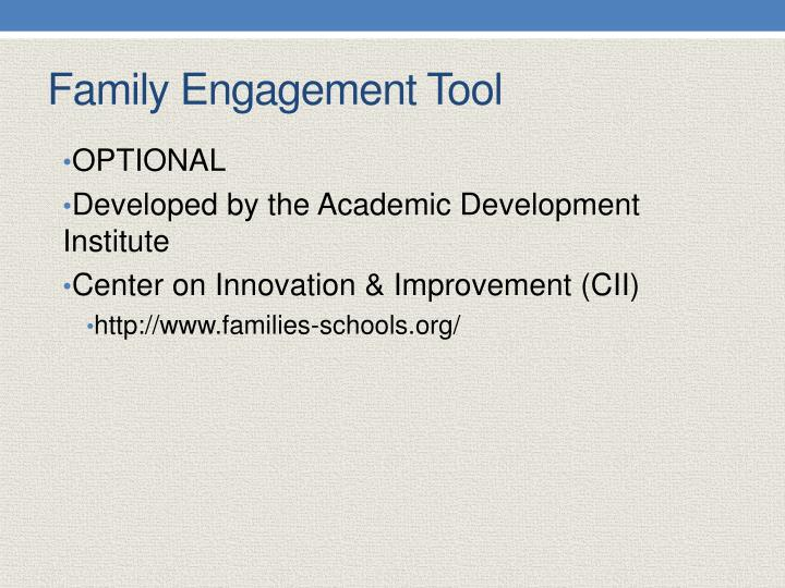Family Engagement Tool