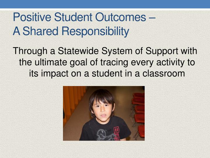 Positive Student Outcomes –