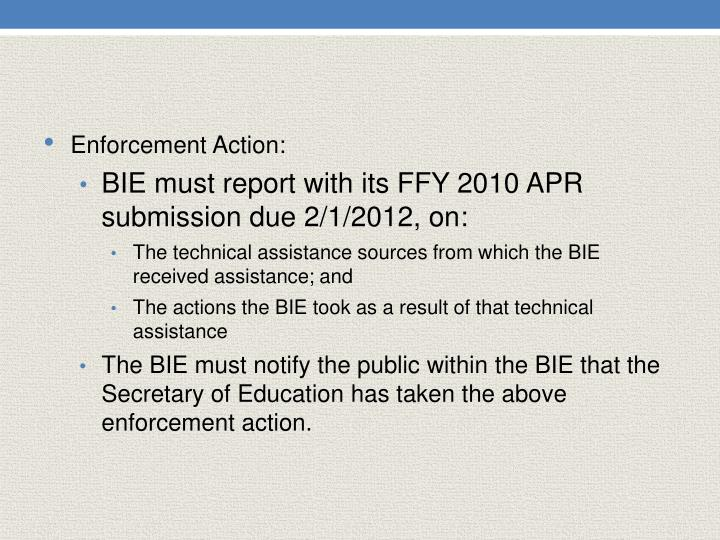 Enforcement Action: