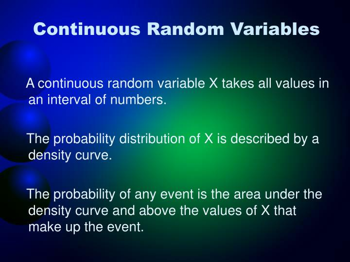 Continuous Random Variables