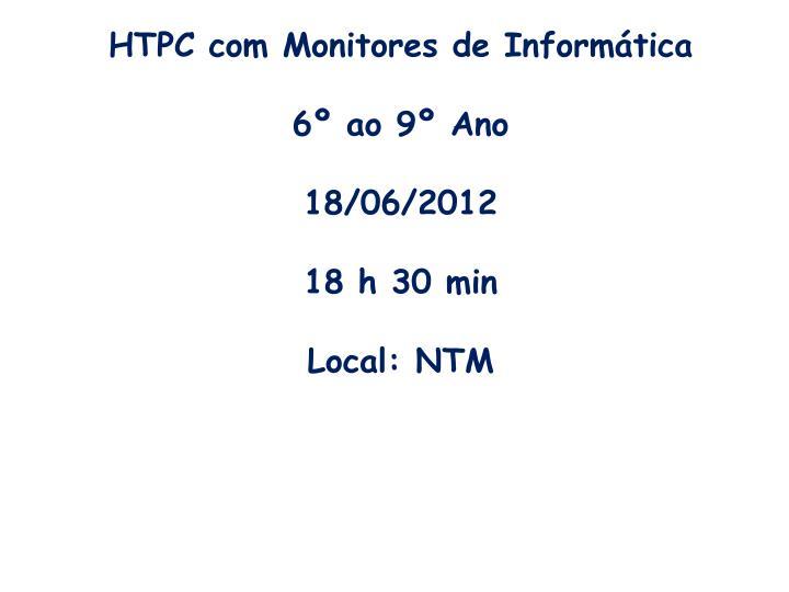 HTPC com Monitores de Informática