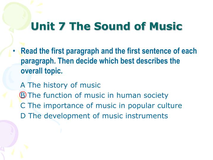 Unit 7 the sound of music1