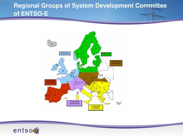 Regional groups of system development committee of entso e