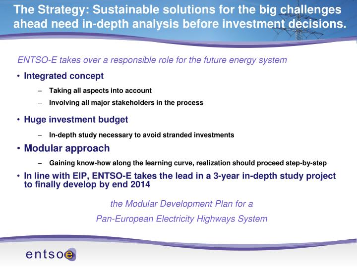 ENTSO-E takes over a responsible role for the future energy system