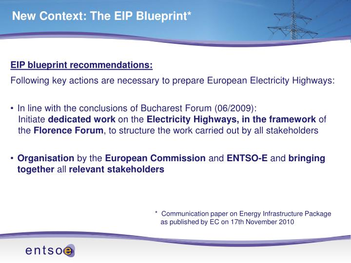 New Context: The EIP Blueprint*