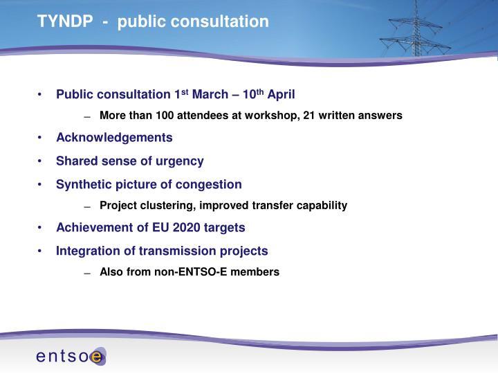 TYNDP  -  public consultation