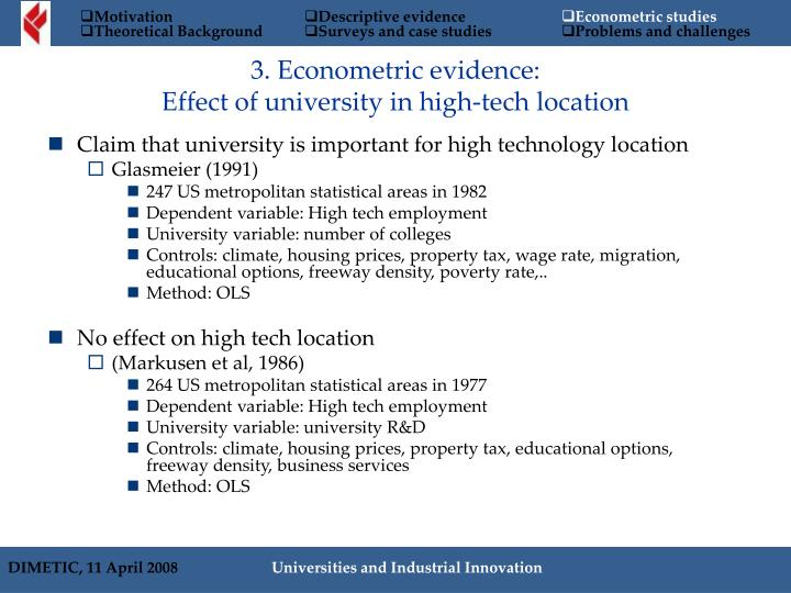 Claim that university is important for high technology location