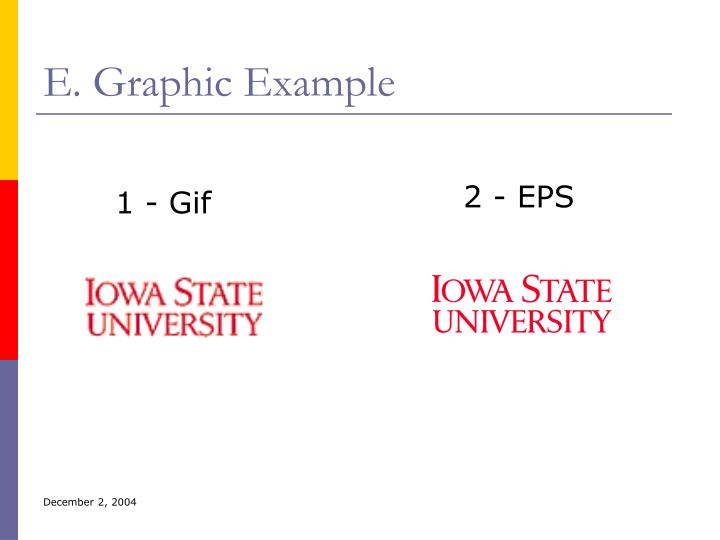 E. Graphic Example
