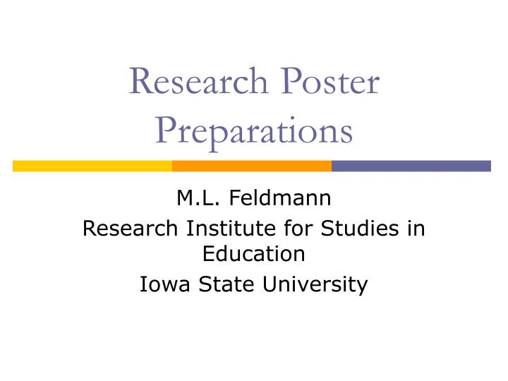 Research poster preparations