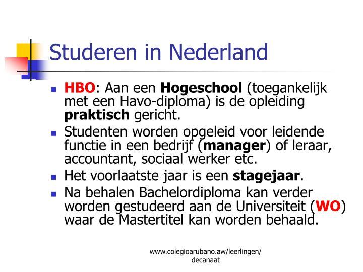 Studeren in Nederland