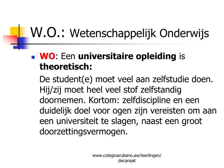 W.O.:
