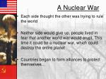 a nuclear war
