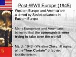 post wwii europe 1945