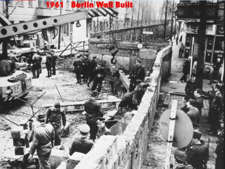 1961 – Berlin Wall Built